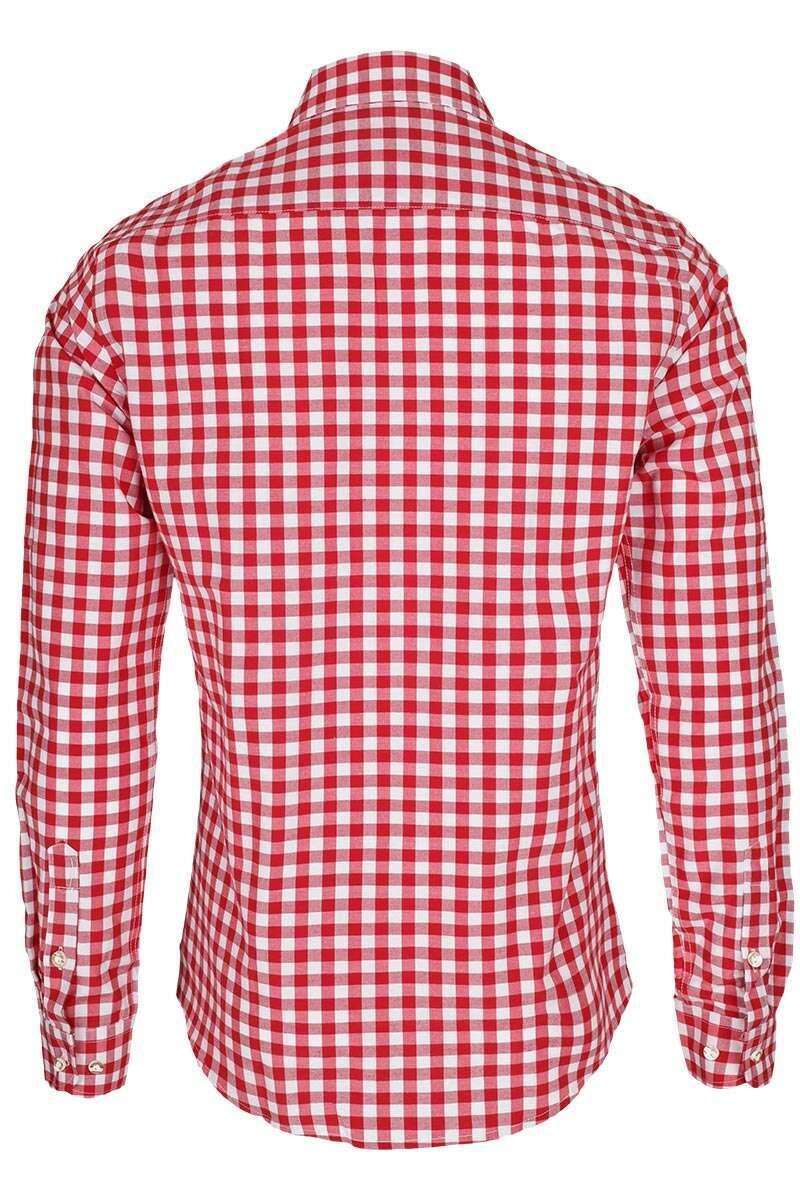 hemd slim fit rot wei kariert slim fit hemden hemden. Black Bedroom Furniture Sets. Home Design Ideas