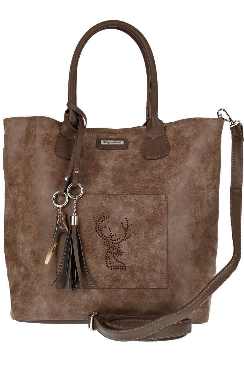 Damen Trachten Shopper braun
