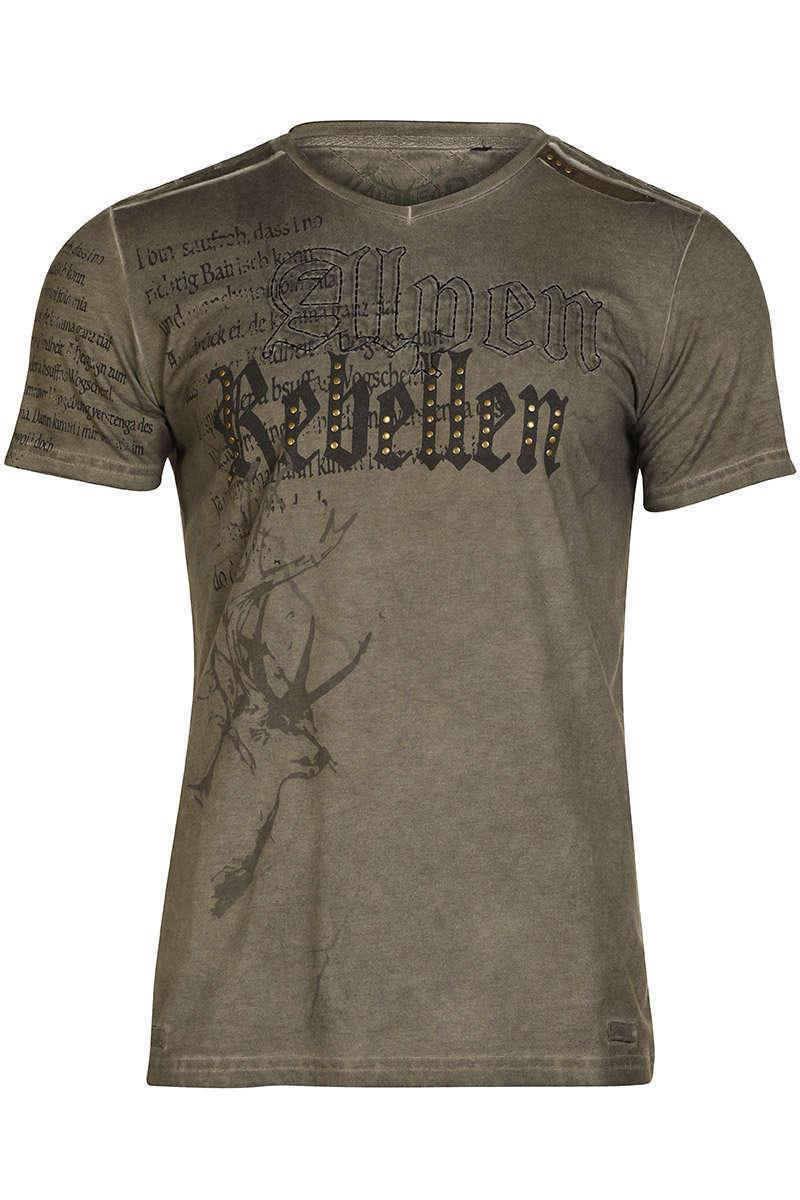 shirt v ausschnitt braun alpen rebellen t shirts poloshirts herren. Black Bedroom Furniture Sets. Home Design Ideas