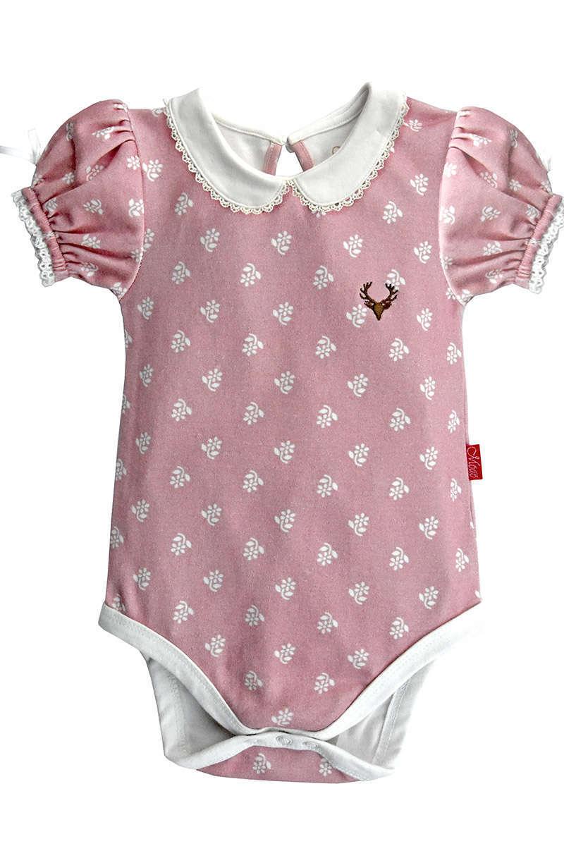 Body Babybody 56 62 68 Weiß Rosa Mädchen Baby Unterwäsche Kurzarm
