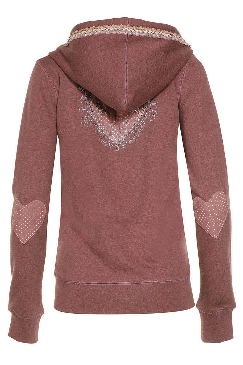 Damen Trachten Sweat-Jacke rose Bild 2