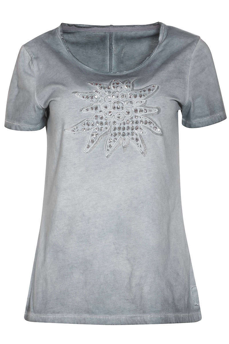 Damen Trachten T-Shirt Edelweiss country blue