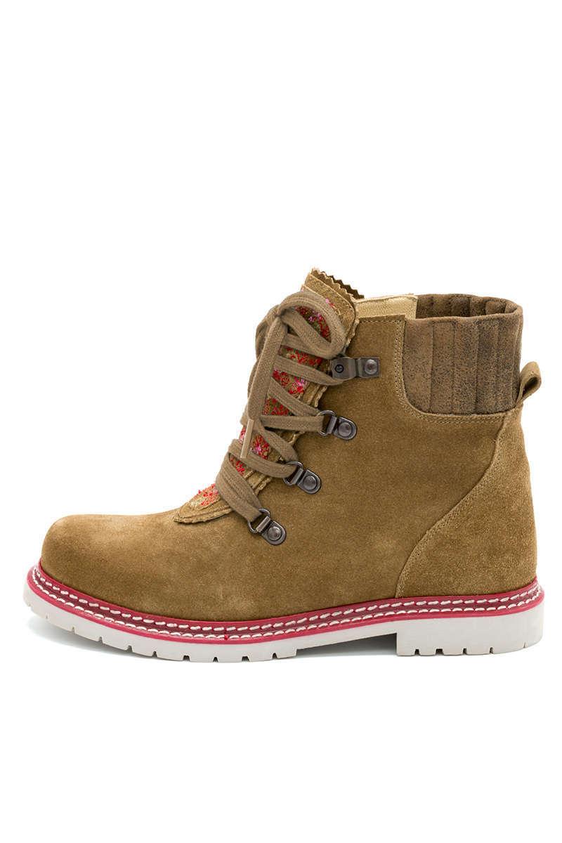 cheap for discount 7c6c7 6fafa Damen Trachten Boots rehbraun rot