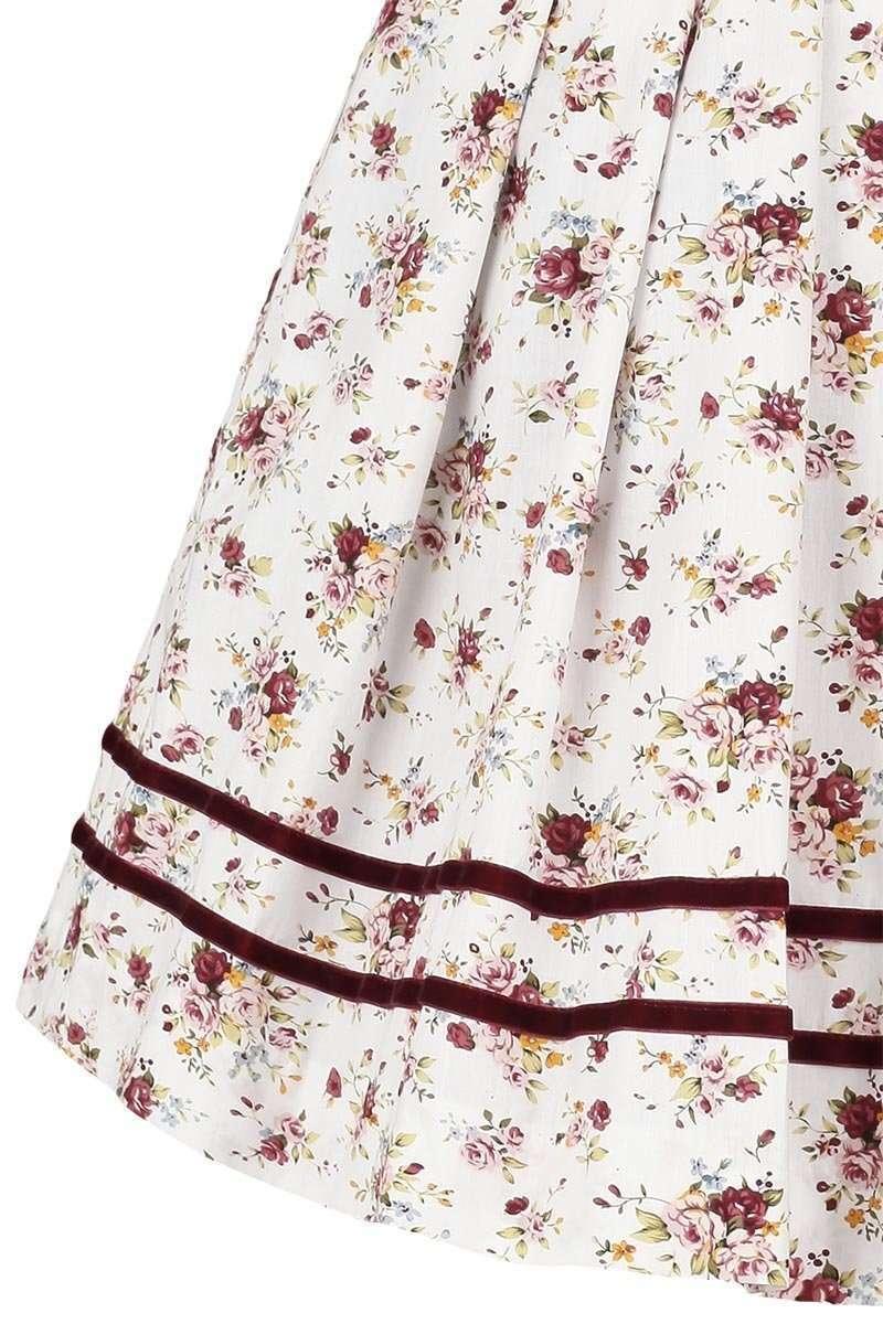 8130499c2ff54b Damen Dirndl Blumen kurz weiß grün - Dirndl Damen - Mia San Tracht