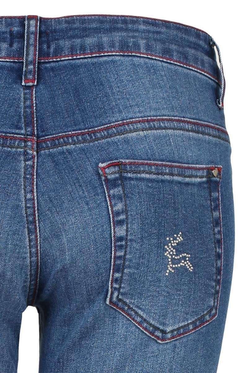 damen trachten jeans mit strass applikationen damen mia san tracht. Black Bedroom Furniture Sets. Home Design Ideas