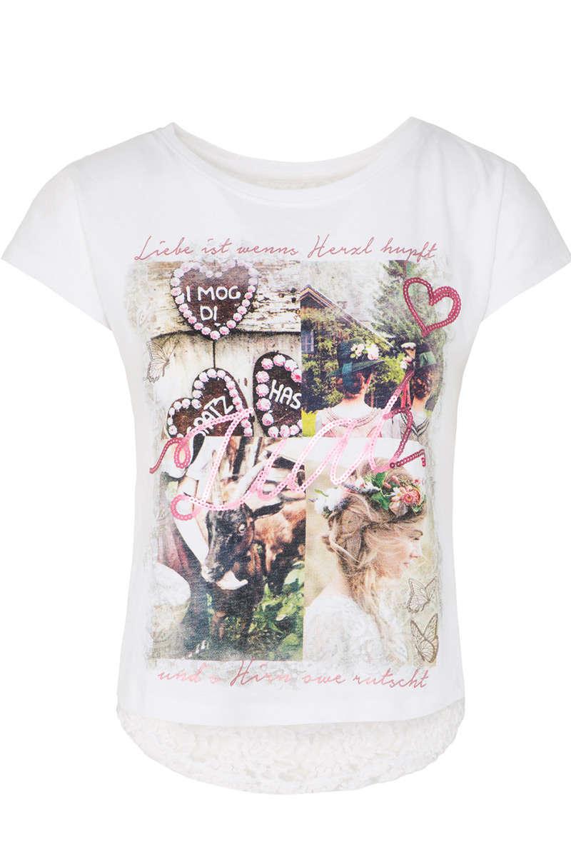 83631191cb141f Damen Trachten T-Shirt Liab weiß - Damen - Mia San Tracht