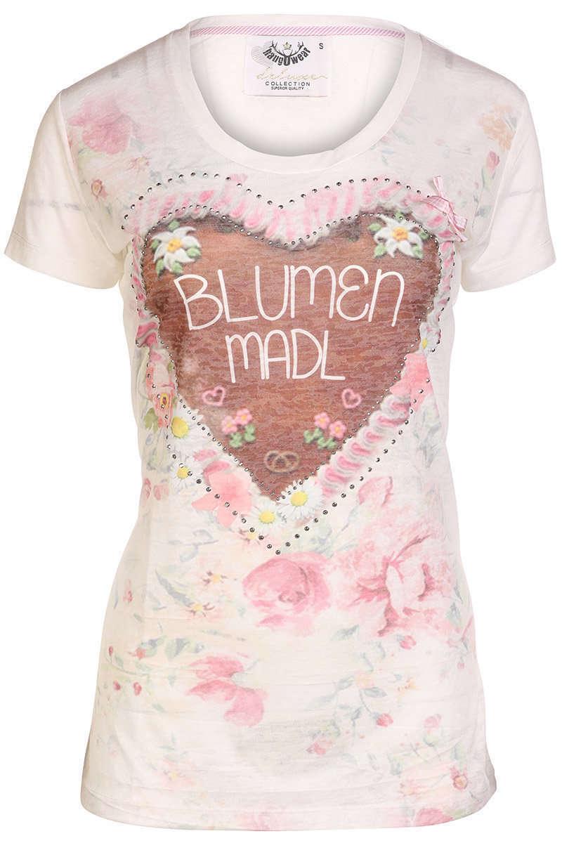 Trachten T-Shirt Blumen Madl - Damen - Mia San Tracht fd9f259600