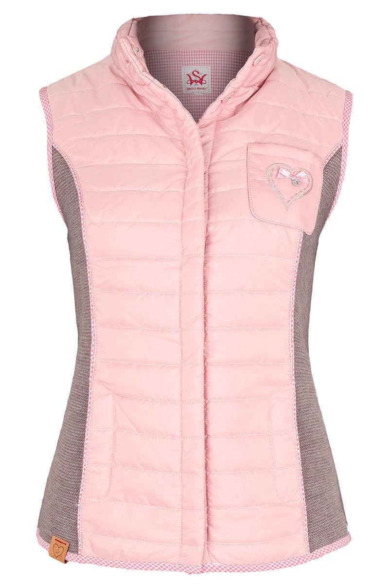 Trachten Steppweste rosa - Damen - Mia San Tracht 90f9f24773