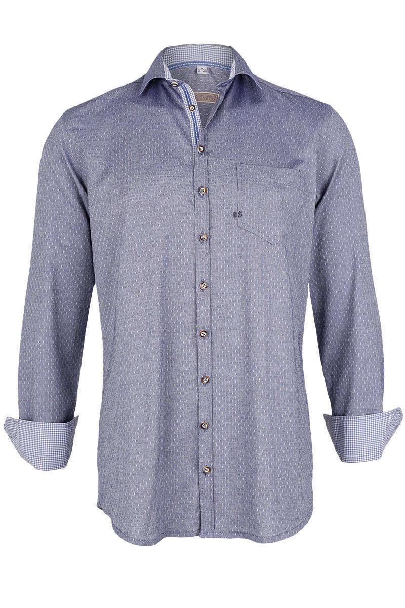 trachtenhemd slim fit jeansblau trachtenhemden trachtenshirts herren mia san tracht. Black Bedroom Furniture Sets. Home Design Ideas