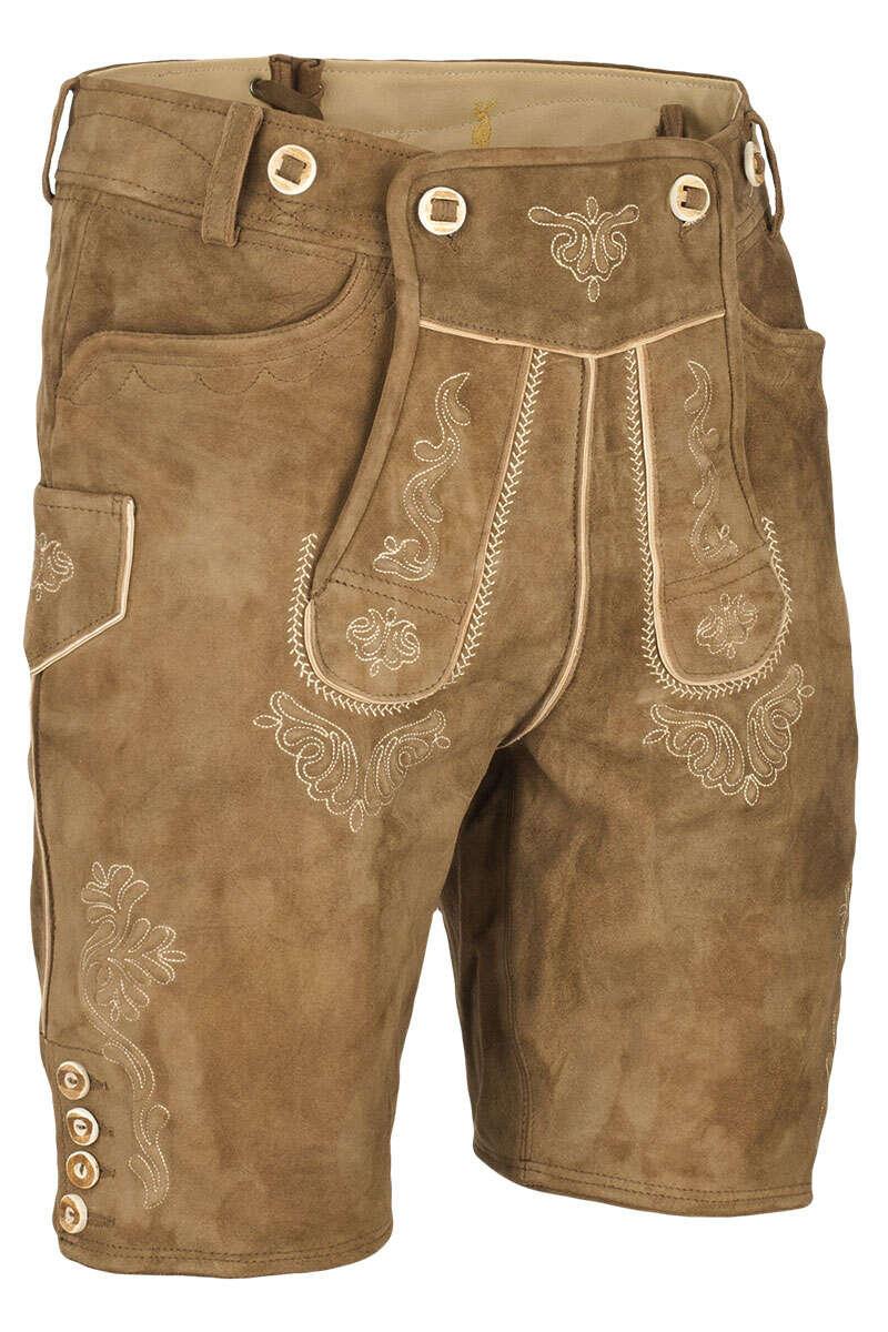929c7e776eae Lederhose kurz mit Stegträger rehbraun - Kurze Lederhosen Trachten ...