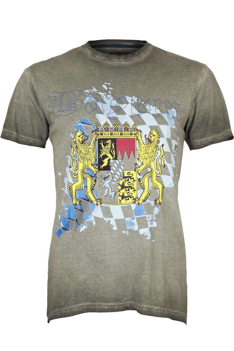 b1dc652ee96676 Herren T-Shirt mit Bayern-Wappen - Trachten Shirts Trachtenhemden ...