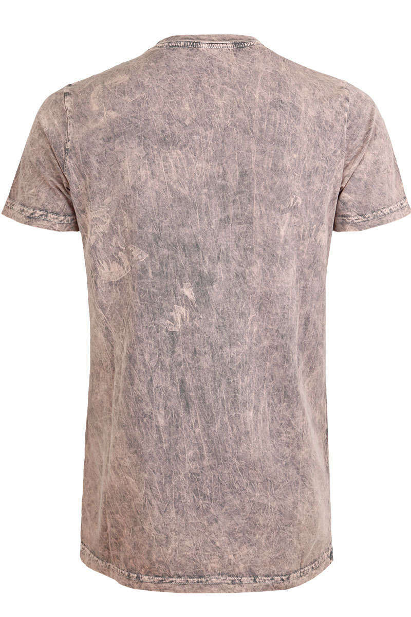 Herren Trachten T-Shirt Hirsch Antique Rose Bild 3