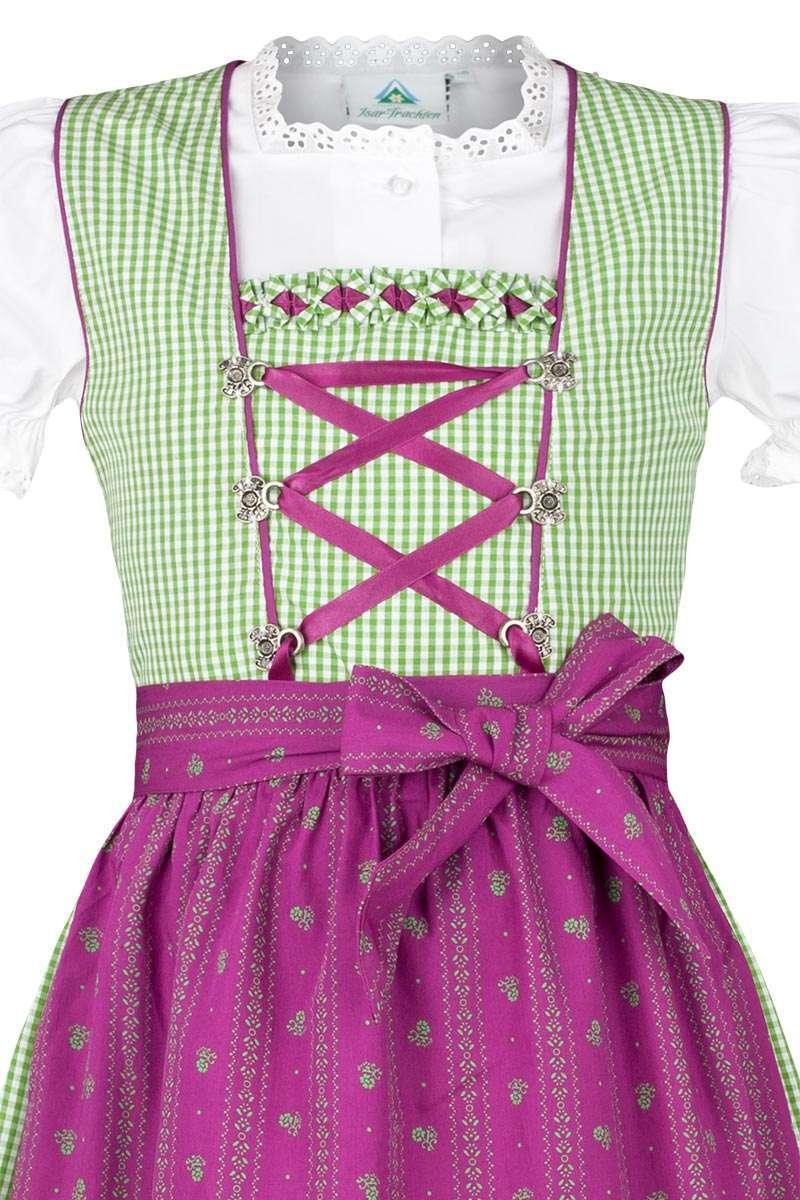 GR/ÜN, Isar-Trachten M/ädchen Kinderdirndl gr/ün Beere mit Bluse