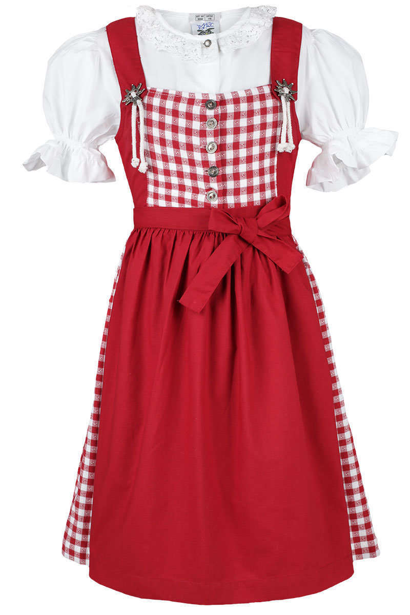 kinderdirndl mit bluse rot wei kariert dirndl kinder. Black Bedroom Furniture Sets. Home Design Ideas
