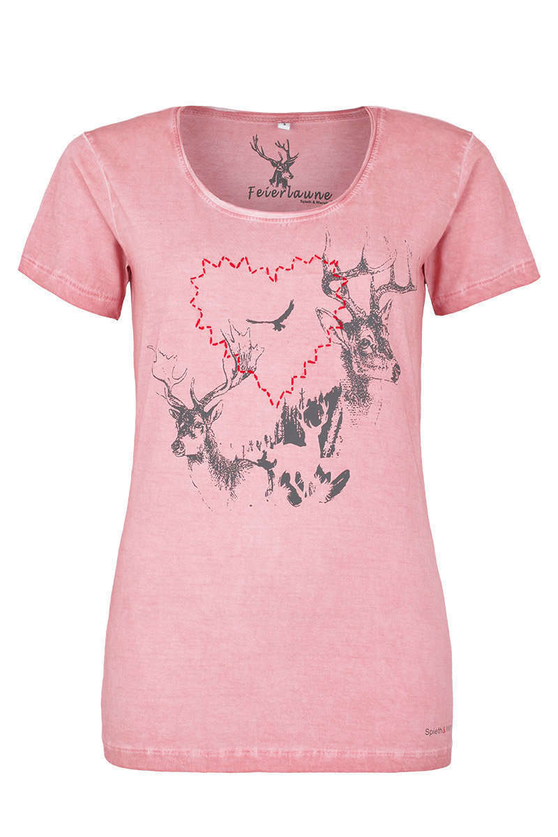 c24f3d8a7b1568 Damen Trachten T-Shirt Herz erdbeere - Damen - Mia San Tracht