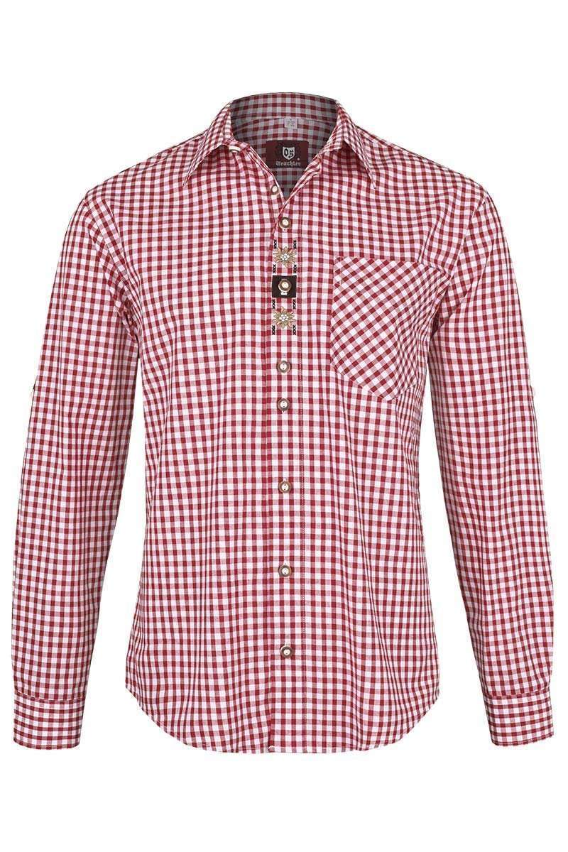 2 Trachten Hemden rot weiß kariert Gr. 41 L Trendig Tradition