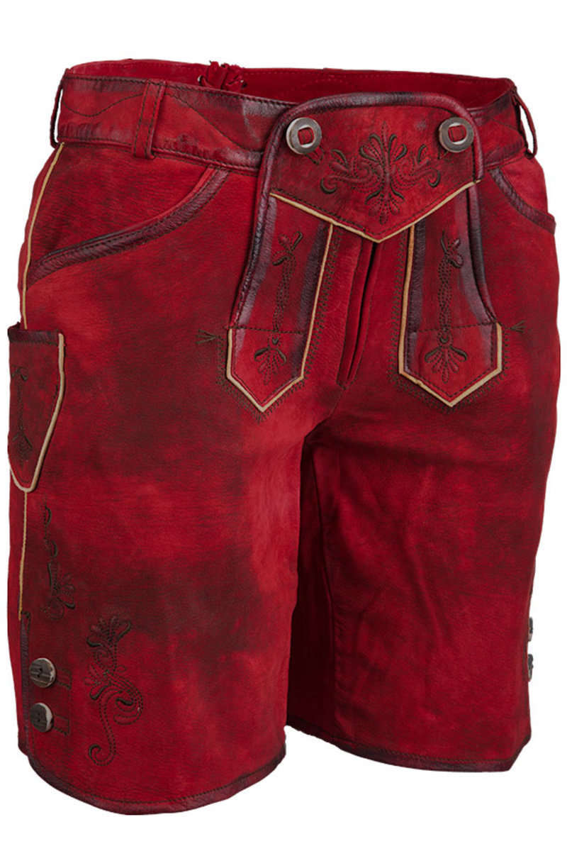 ec378030970e Lederhose kurz rot - Trachten Lederhosen Trachtenhosen Damen - Mia ...