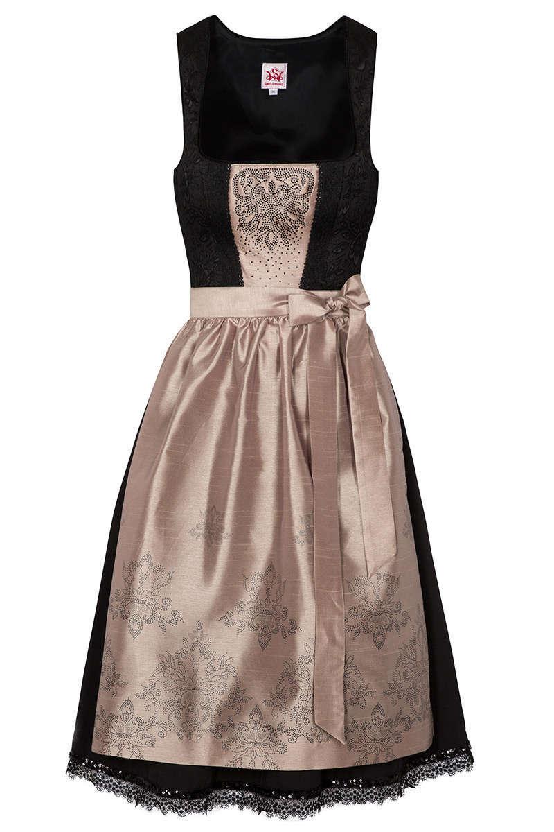 online store 36457 30505 Mini Dirndl schwarz cappucino