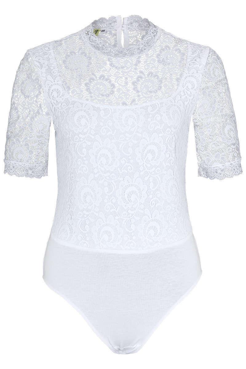 4516b1a013d9fe Damen-Body mit Spitze weiß