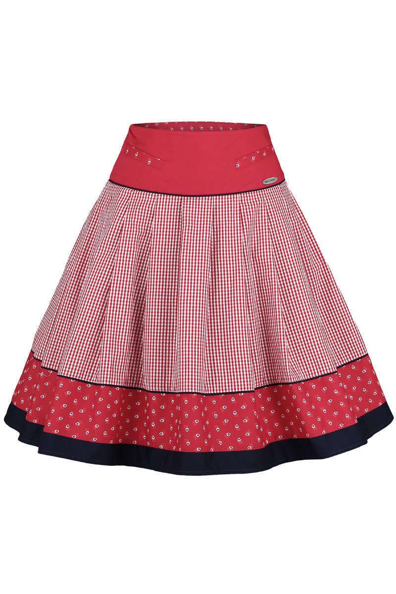 Trachtenrock kariert rot blau - Trachtenröcke Röcke, Mieder, Kleider ... 76c13a9b3f