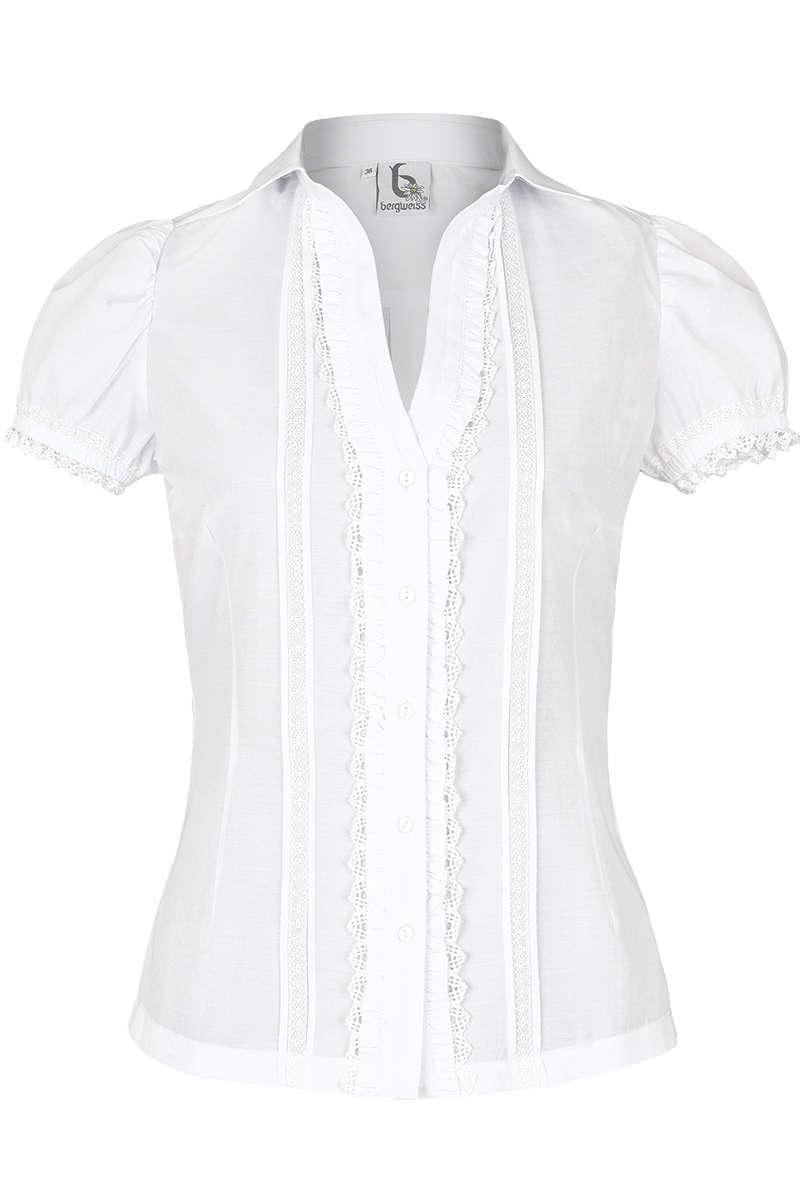 Trachtenbluse weiß - Kurzarm Blusen Trachtenblusen, Trachtenshirts ... 455a4bf6b2