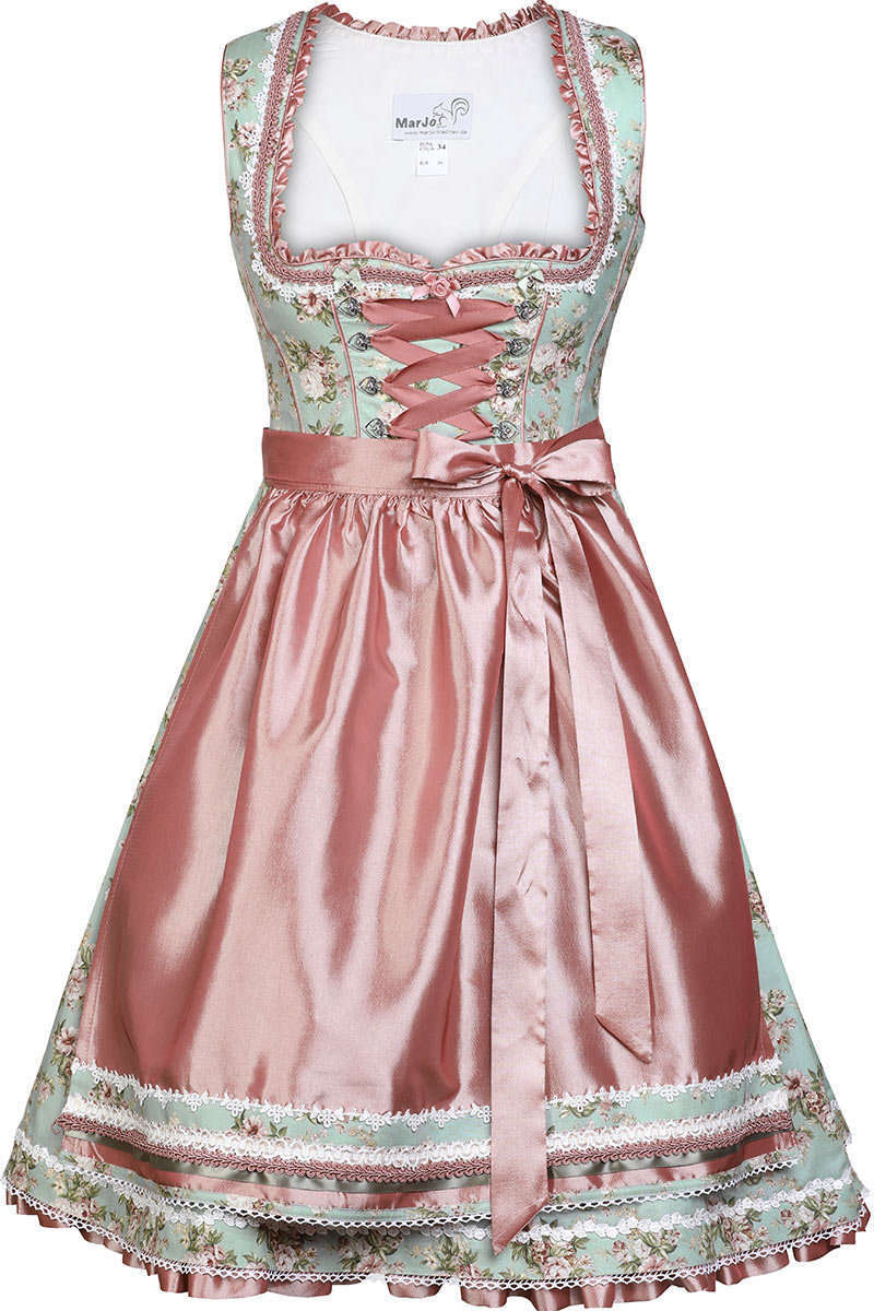 4b089775b7e960 Dirndl kurz Blumen Vintage romantisch rosé - Dirndl Damen - Mia San ...