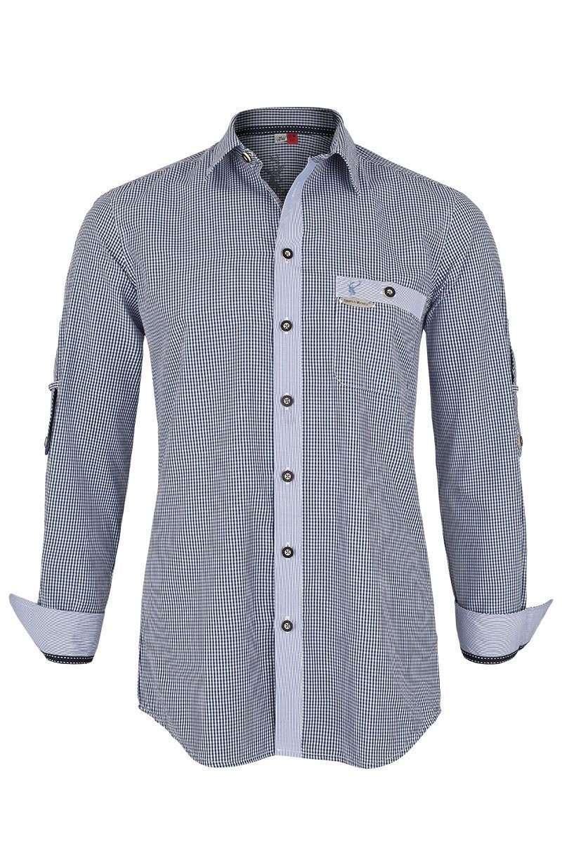 trachtenhemd slim fit blau kariert trachtenhemden slim fit trachtenhemden trachtenshirts. Black Bedroom Furniture Sets. Home Design Ideas
