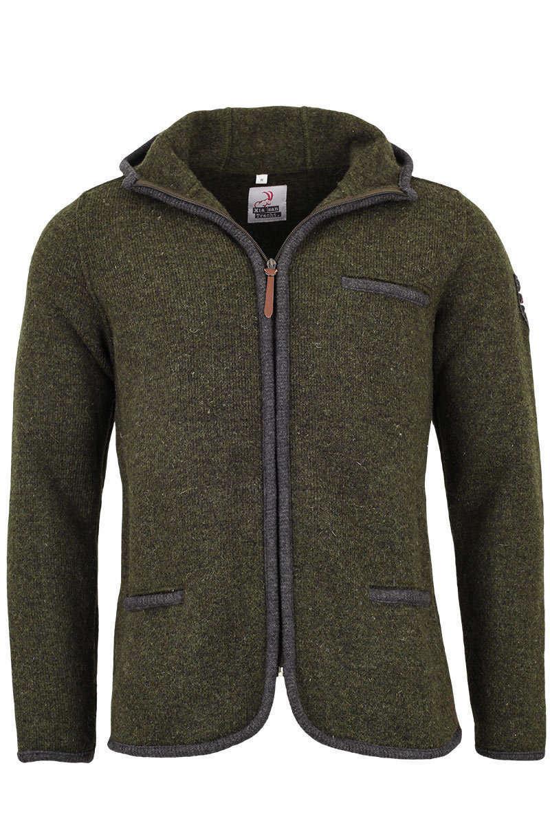 Fabelhaft Herren Trachten-Outdoor Jacke mit Kapuze oliv - Trachtenjacken &IZ_22