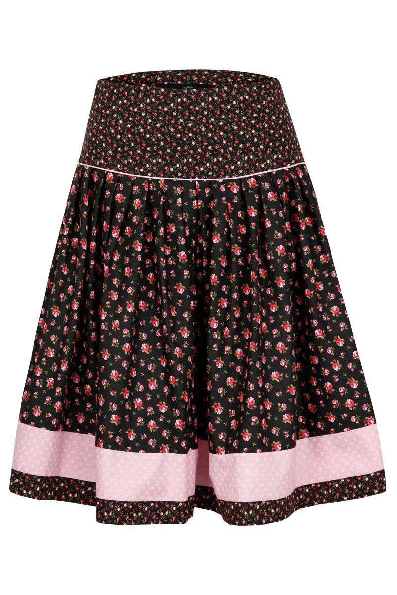 Trachtenrock geblümt schwarz rosa - Trachtenröcke Röcke, Mieder ... c36beaafb6
