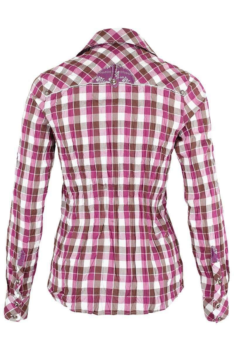 Bluse Crash-Optik kariert pink Bild 2
