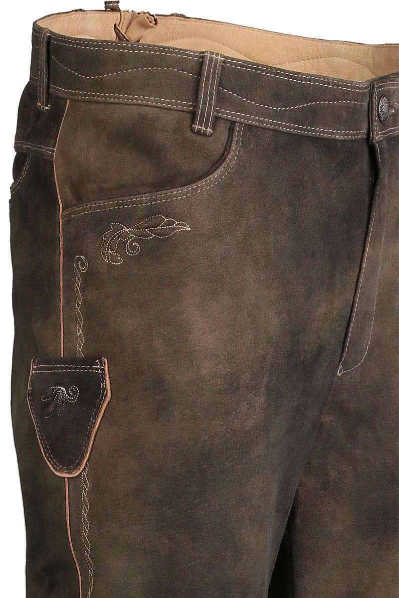 vorbestellen Räumungspreis genießen am besten geliebt Trachten Lederhose lang dunkelbraun