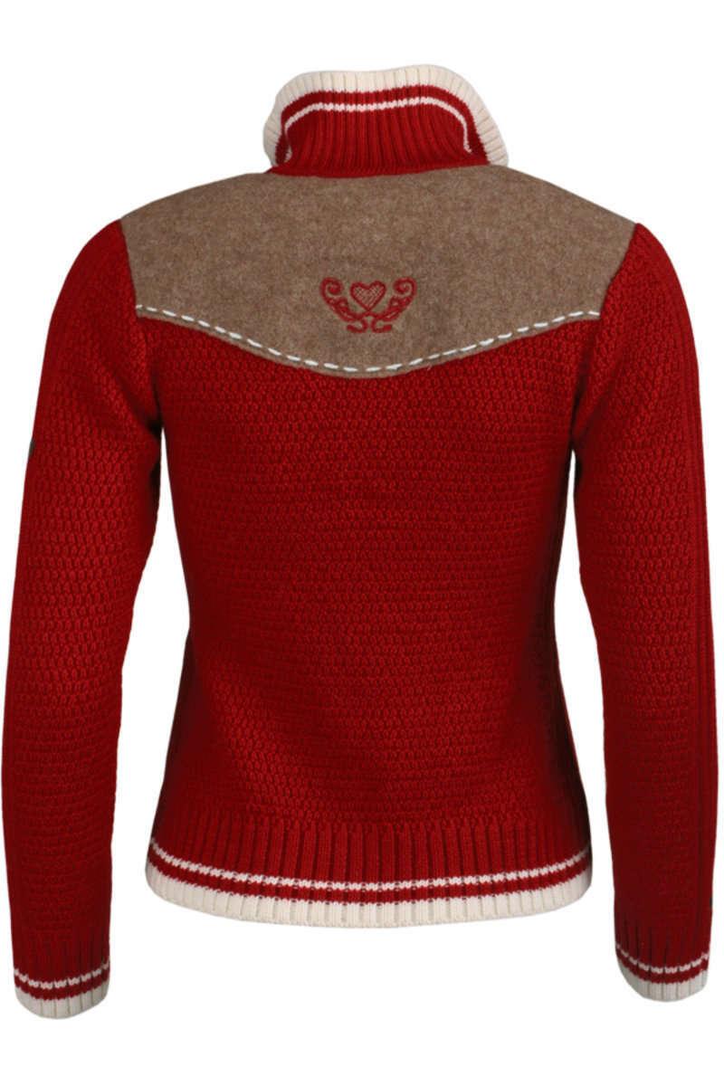 Strickjacke rot - Jacken trendig Jacken Damen - Mia San Tracht