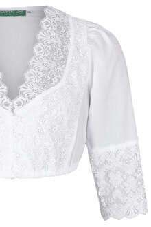 e2db85f485b131 weiße Spitzen Dirndl-Bluse mit 3 4 Arm - Dirndlblusen Damen - Mia ...