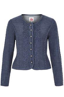 447d513fe26c Spieth   Wensky Damen Trachten Strickjacke mit Zopfmuster jeansblau