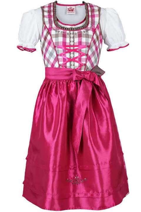 teenie dirndl mit bluse pink dirndl kinder mia san tracht. Black Bedroom Furniture Sets. Home Design Ideas