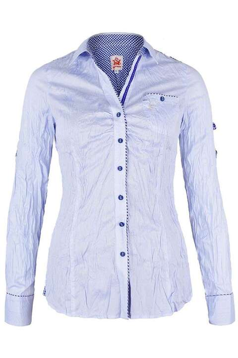 Bluse Crash-Optik hellblau